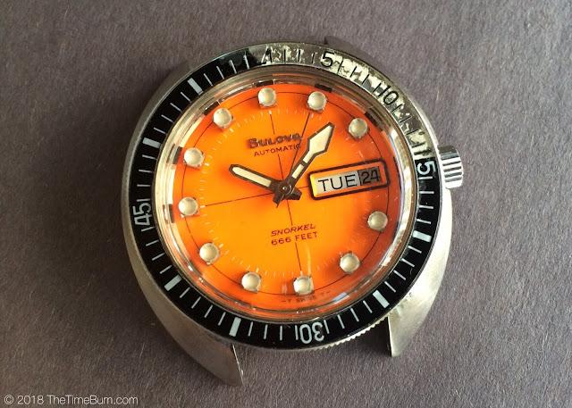 Vintage 1971 Bulova Oceanographer Snorkel V 666ft Devil Diver