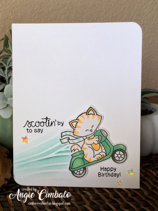 Scootin' by to say by Angie features Newton Scoots by  and Newton's Birthday Flutter by Newton's Nook Designs; #newtonsnook