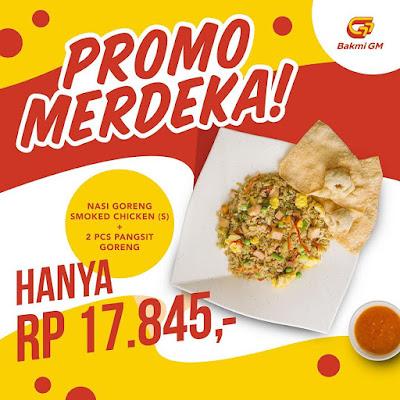 #Promosi247 #BakmiGM - #Promo Merdeka Sambut HUT Indomesia Nasi Goreng Smoked Chicken Hanya 17K (s.d 31 Agustus 2020)