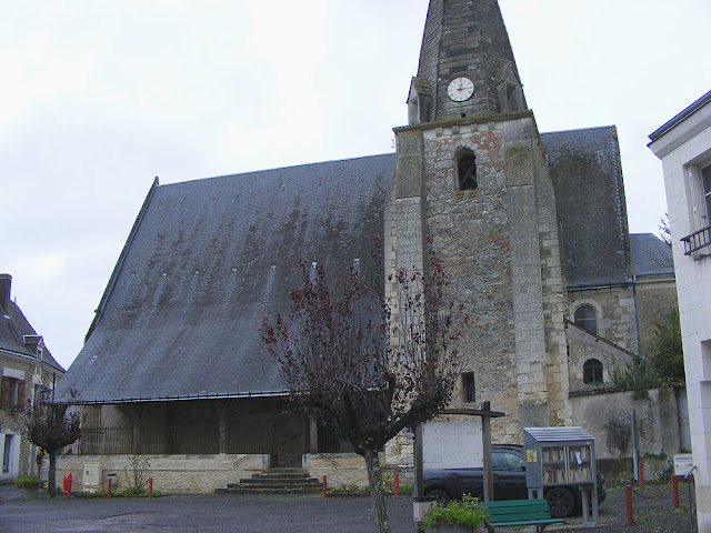 Church, Saint Hippolyte, Indre et Loire, France. Photo by Loire Valley Time Travel.