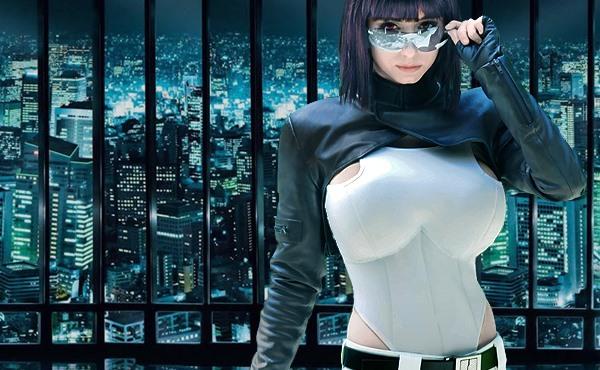 Riki 'Riddle' Lecotey con su cosplay de Motoko kusanagi