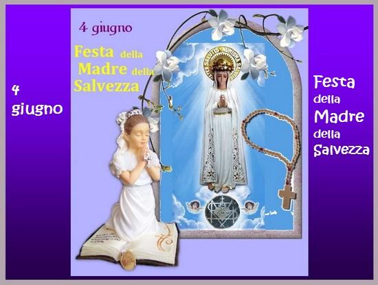 Santo Rosario continuo, di 24 ore, 4 giugno, Festa della Madre della Salvezza