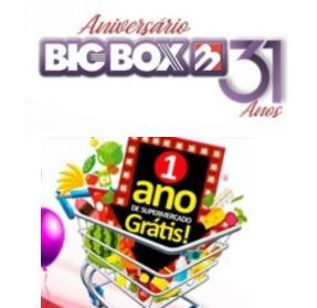 Cadastrar Promoção Big Box 31 Anos 1 Ano Grátis Compras Supermercado - Aniversário 2020