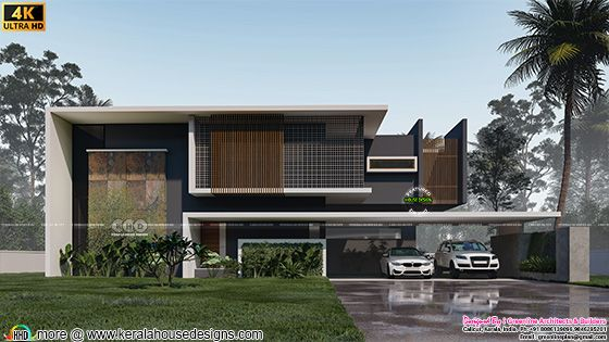 Minimalist contemporary style modern home with 5 bedrooms