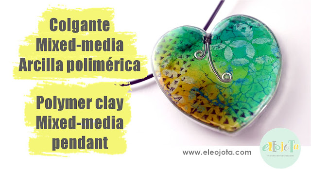 colgante mixed media arcilla polimérica