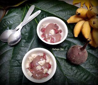 Vegan fresh figs banana rasayana