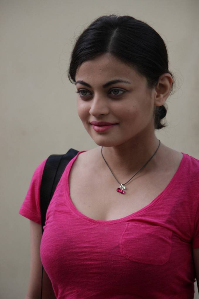 Sneha Ullal In Pink Dress At Movie Premiere Show 2017