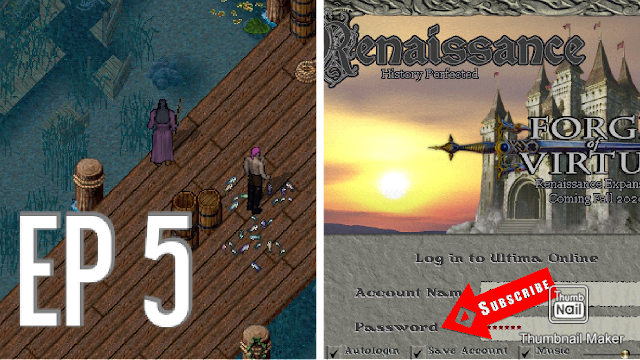 Let's Play ULTIMA ONLINE (MobileUO) 2021 [EP 5] AN HOUR OF FISHING & MUSIC