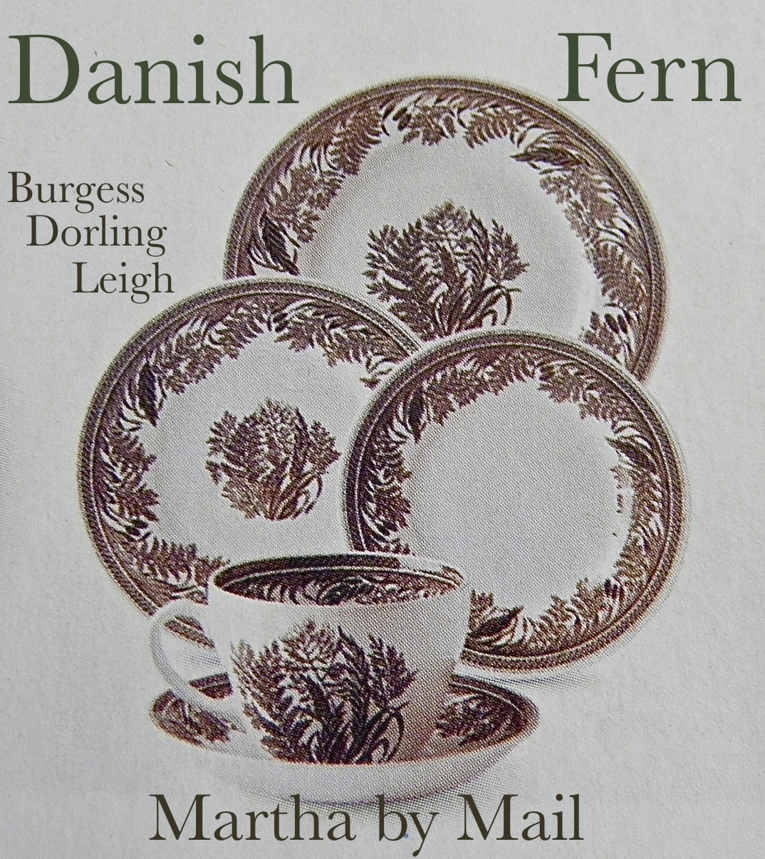 Good Things By David Martha By Mail Danish Fern China