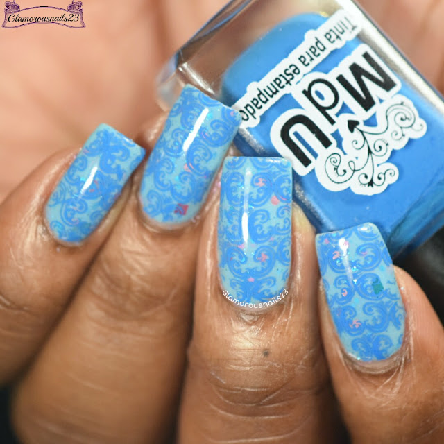Blue Tone On Tone Stamping