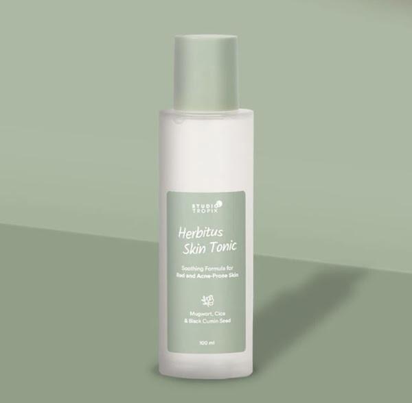 Studio Tropik Herbitus Skin Tonic Mengandung Centella Asiatica Menghilangkan Bekas Jerawat