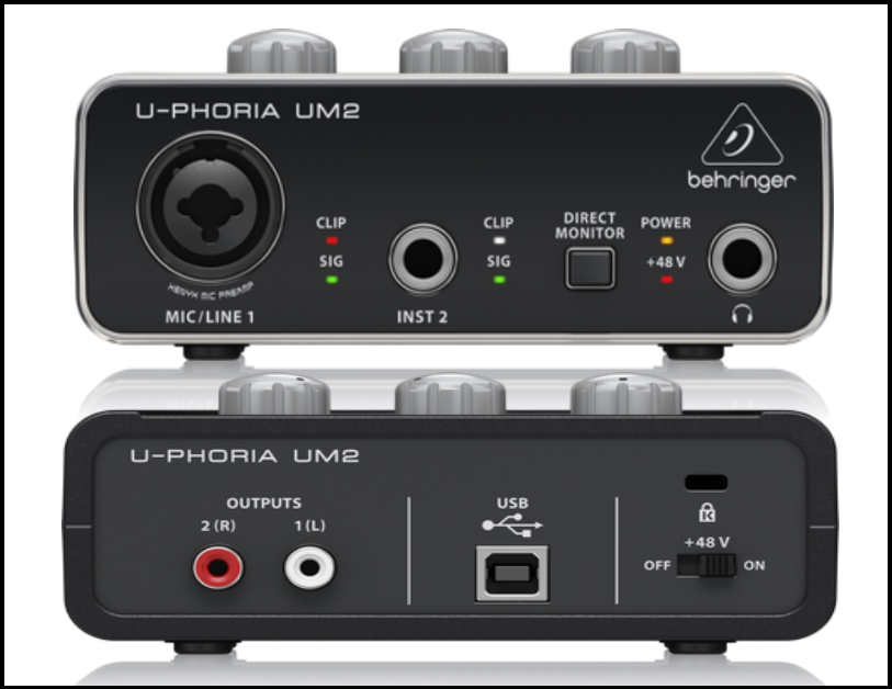 behringer-um2-uphoria-usb-audio-interface-back-and-front-side