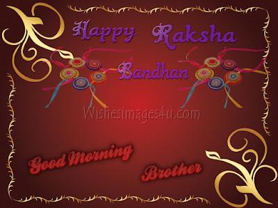 Raksha Bandhan Good Morning Pics, Photo greetings, Images 2019 For Brother