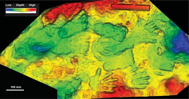 Hand and footprint art dates to mid-Ice Age