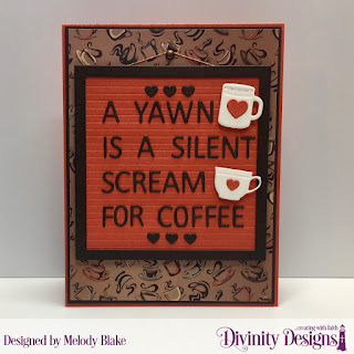 Custom Dies: Letter Board, Mini Cups and Mugs, Paper Collection: Latte Love