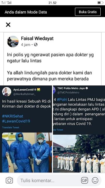 Polisi Pakai APD Lengkap