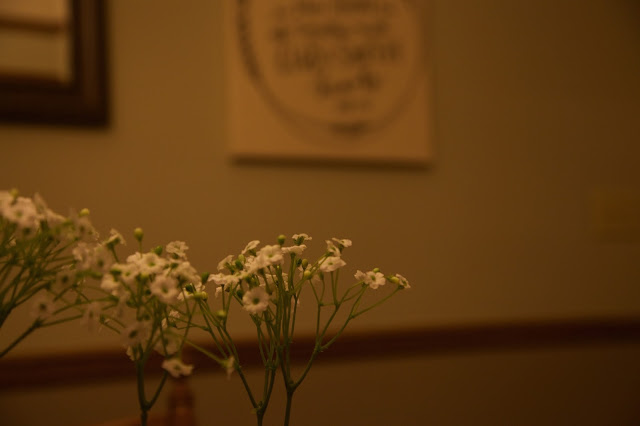 rustic dining, baby's breath
