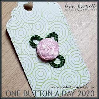 One Button a Day 2020 by Gina Barrett - Day 136 : Little Rose