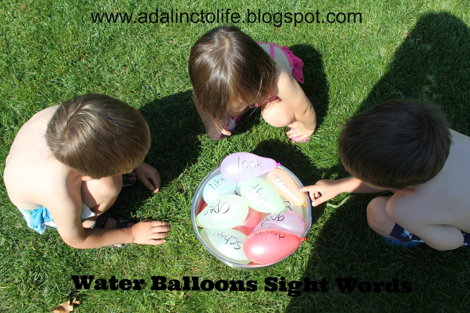 Water Balloon Sight Words