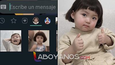 Madre de niña coreana pide que no usen más a su hija como 'sticker'