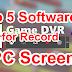 Computer Me Screen Record Karne Ke Liye Top 5 Software