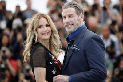Travolta y Preston en el Festival de Cannes, en 2018