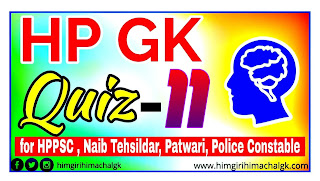 Himachal GK Quiz for HAS HPPSC