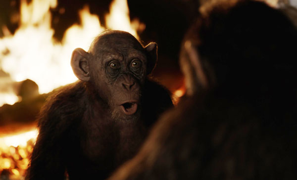 Steve Zahn's Bad Ape brings a comic relief in WAR FOR THE PLANET OF THE APES (2017)
