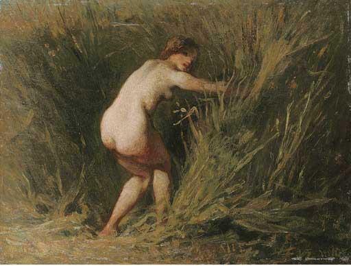 Жан Франсуа Милле - Нимфа в тростнике