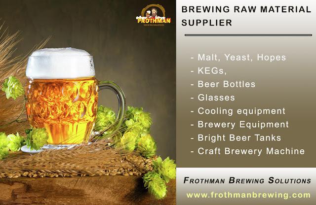 Brewing Beer Raw Materials:  Malt, Yeast & Hops Suppliers - Frothman