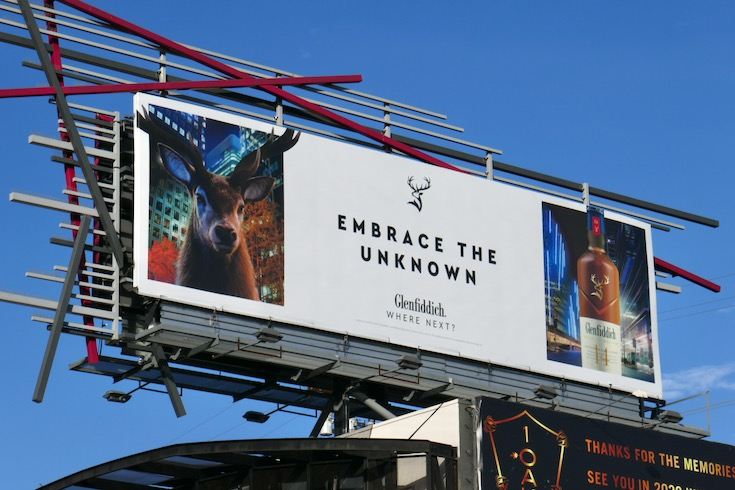 Embrace the unknown Glenfiddich Scotch billboard