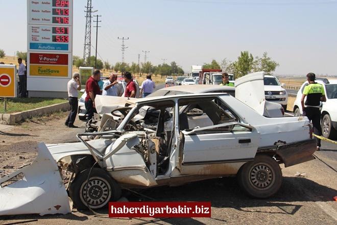 Diyarbakır-Mardin Karayolu fidanlık mevkiinde feci kaza: 3 ölü