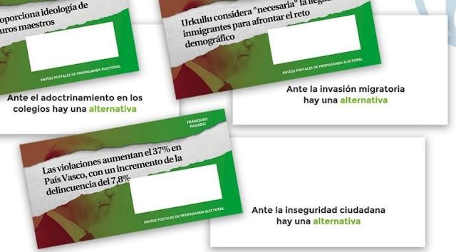 Correos bloquea la propaganda de Vox en Euskadi y Galicia porque podrían vulnerar derechos fundamentales