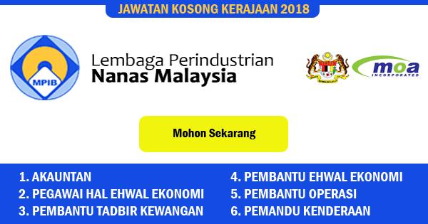 jawatan kosong lembaga perindustrian nanas malaysia 2018