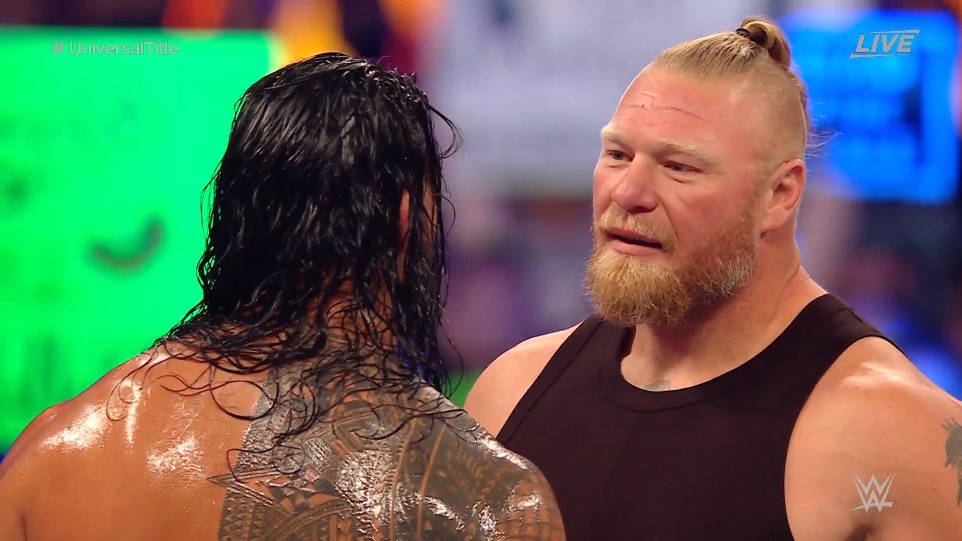 Brock Lesnar retorna no WWE SummerSlam para confrontar Roman Reigns