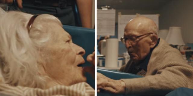 105-летний мужчина навестил свою жену на их 80-ую годовщину. Он сказал всего лишь 7 слов, и внук не смог сдержать слезы