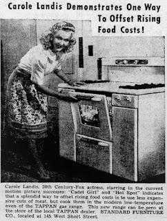 Carole Landis Oven Ad