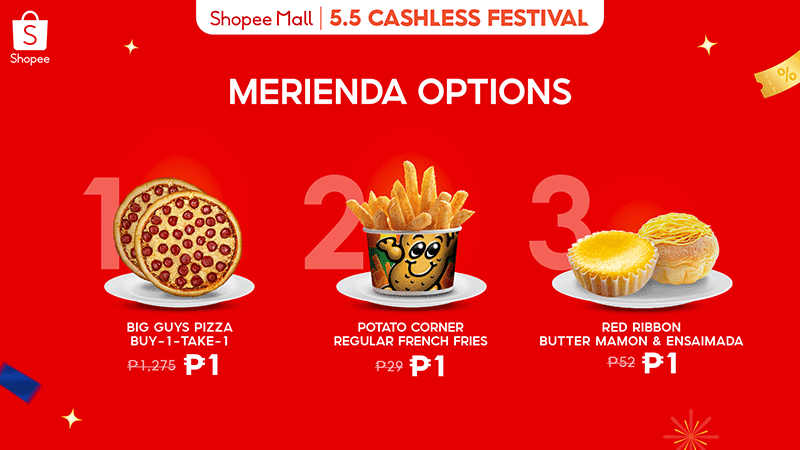 Piso deals for different merianda choices