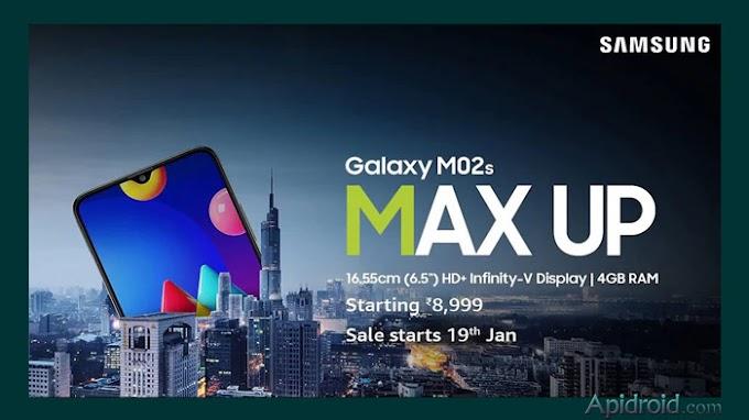 Samsung Galaxy M02s will Go on Sale on Amazon India