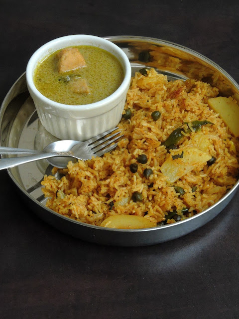 Hara Channa Potato Briyani