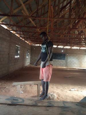 PHOTOS: Man Hangs Himself In A Classroom In Nasarawa