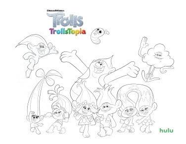 Hulu S Trolls Trollstopia Coloring Book Page Activity