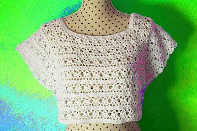 6 - Crochet Imagen Canesú de mujer a crochet y ganchillo por Majovel Crochet