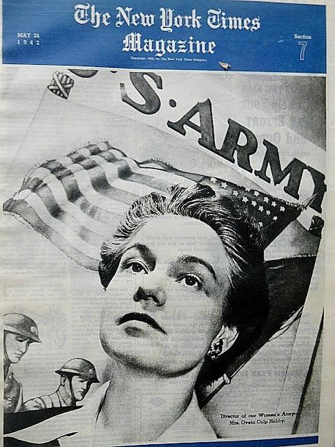 WAC leader Oveta Culp Hobby, NY Times, 24 May 1942 worldwartwo.filminspector.com