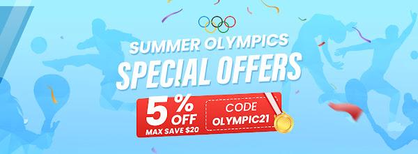 Cupão dos jogos olímpicos dá-te desconto de 5% em toda a Geekbuying!