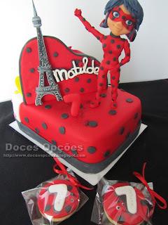 bolo aniversário Miraculous: As Aventuras de Ladybug