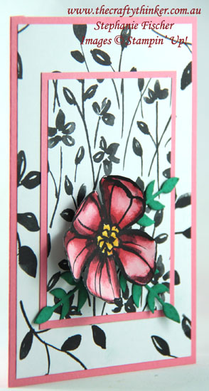 #thecraftythinker , #stampinup , #cardmaking , Petal Passion, Quick card, Watercolouring, Stampin' Up Australia Demonstrator, Stephanie Fischer, Sydney NSW