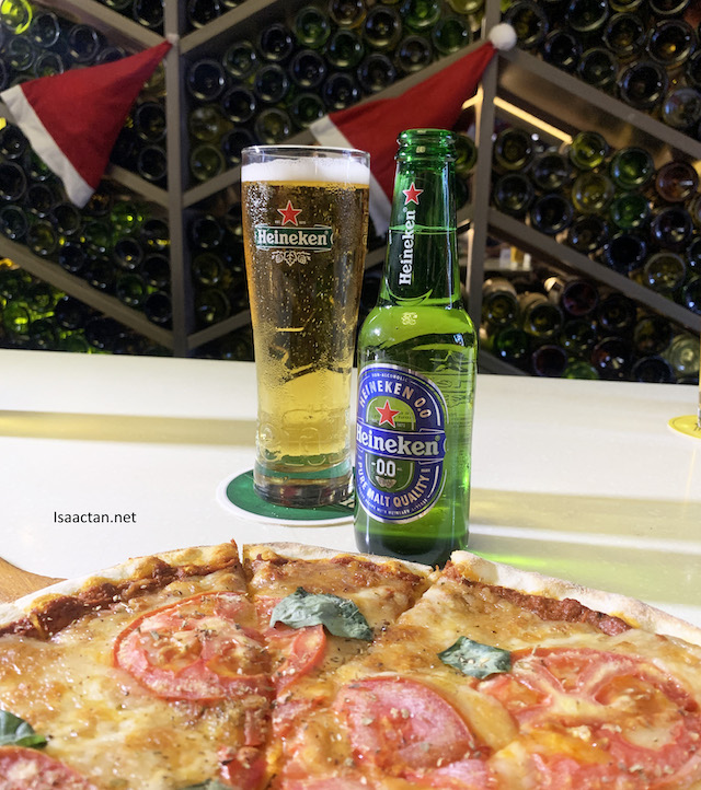 Say Cheese Pizza paired with Heineken