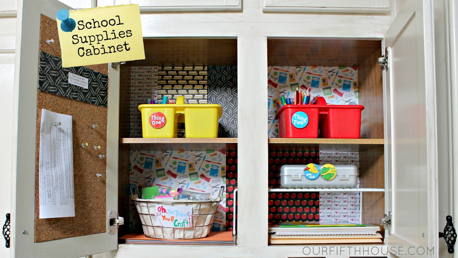 Organizing homework supplies back to school preparation for Home goods decorations