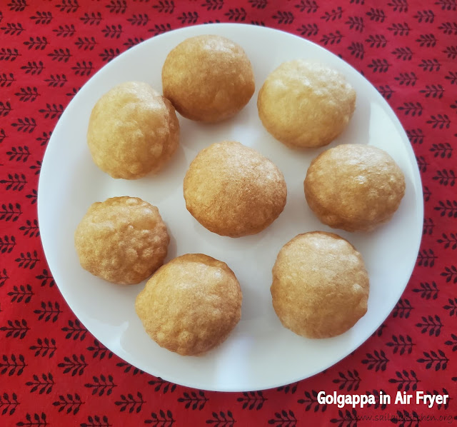 images of Golgappa Frying In Air Fryer / No Fry Golgappas / Air Fryer Golgappas / Air Fryer Puri